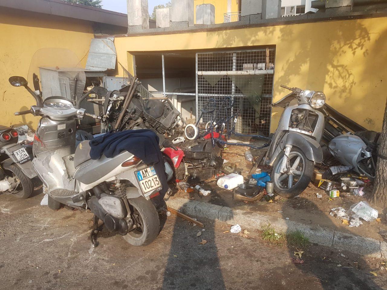 Autofficine abusive a Zingonia (Ciserano)