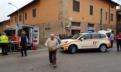 Incidente a Mozzanica, furgone si schianta in curva FOTO