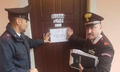 Residence abusivo a Ciserano, blitz dei carabinieri