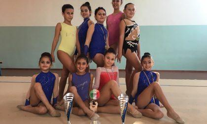 Campionati italiani di ginnastica ritmica, la Us Acli Crema c'è e fa incetta di titoli FOTO