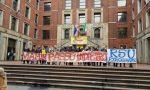 Eurogravure, lavoratori in protesta davanti alla Camera del Lavoro VIDEO FOTO