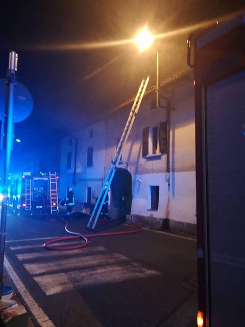 Incendio a Brignano