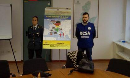 Traffico internazionale di cocaina, 56 arresti e 130 chili di droga sequestrati