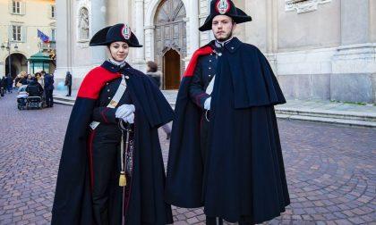 Uniforme storica per le pattuglie appiedate dei carabinieri