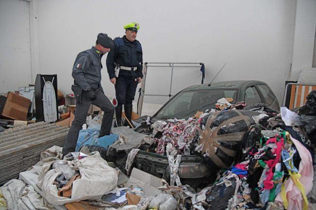 gdf Traffico di rifiuti Caravaggio