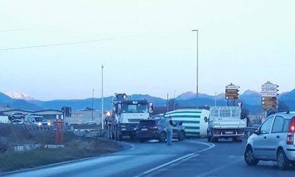 Incidente a Zanica, traffico in tilt per Bergamo