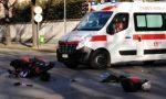 Scontro tra auto e moto in viale Piave FOTO