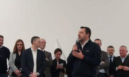 Matteo Salvini in città per l'inaugurazione della sede della Lega