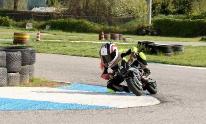 Cristian Borrelli al campionato italiano di velocità minimoto