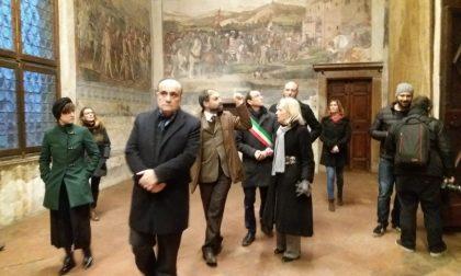 Il ministro Alberto Bonisoli in visita ai castelli della Bassa