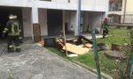 Incendio nella palazzina ex Snam di Treviglio VIDEO