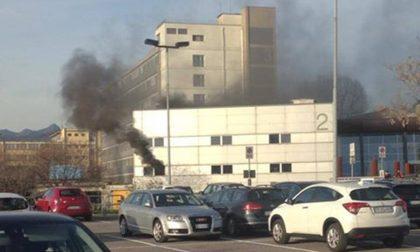 Incendio all'ospedale di Seriate