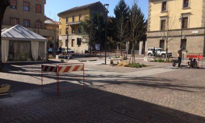 Piazzetta XXV Aprile, recinzione anti-auto