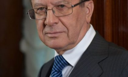Il presidente di Gazprom, Viktor Zubkov in visita a Brescia