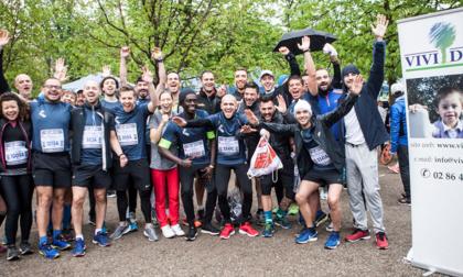 Amazon, i dipendenti di Casirate alla Relay Marathon per Vivi Down e Sport senza frontiere