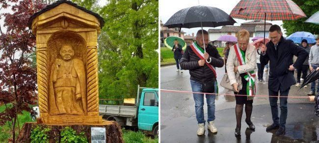 L&#8217&#x3B;enorme pioppo diventa una scultura di Papa Giovanni XXIII