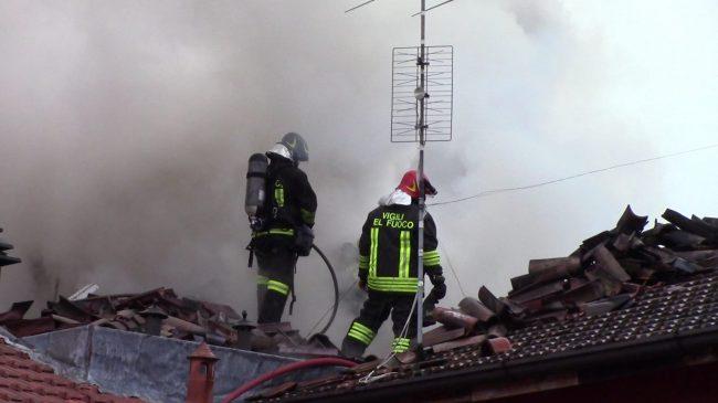 Incendio Fara: &#8220&#x3B;Un muro di fiamme alto venti metri&#8221&#x3B;