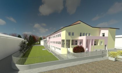 Refettorio scolastico nel seminterrato, c'è il progetto