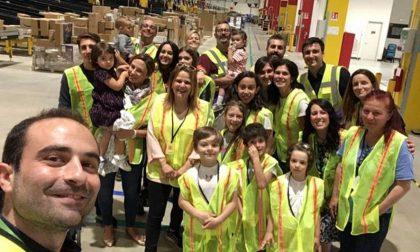 Family day porte aperte al magazzino Amazon FOTO