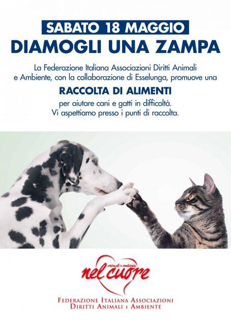 """""""Diamogli una zampa"""": Esselunga con Federazione Italiana Associazione Diritti Animali e Ambiente"""