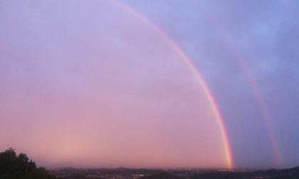 Super doppio arcobaleno visto da Meratese e Isola