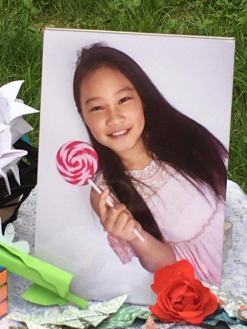 La piccola Yuqi, 9 anni