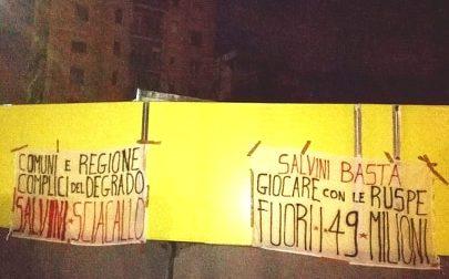 Salvini sciacallo, a Zingonia i cartelli contro il vicepremier