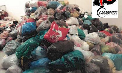 Maxi sequestro Caravaggio: tonnellate di vestiti usati diretti al mercato tunisino