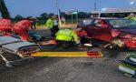 Incidente ai Mosi: scontro auto-moto, in ospedale un 23enne FOTO