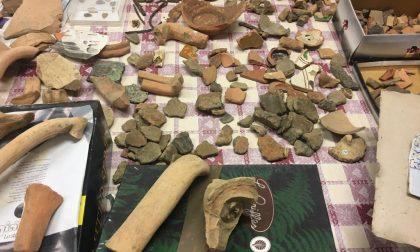 Fornovo, reperti romani ritrovati in alcuni scatoloni