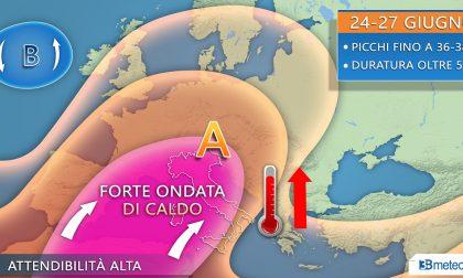 Caldo in aumento, dalla prossima settimana punte di 38 gradi anche al Nord PREVISIONI METEO