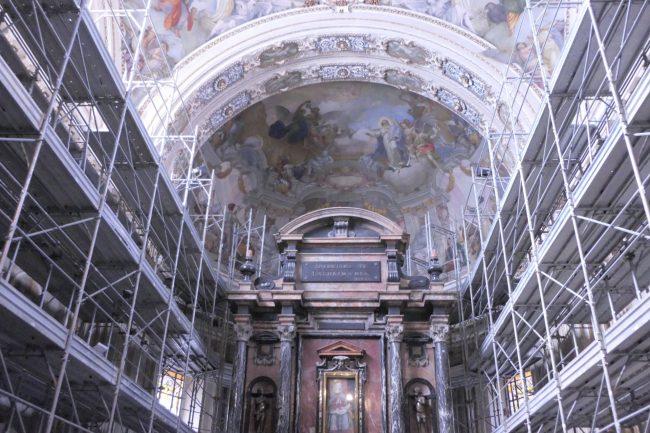 Dentro il Santuario: ecco come procedono i restauri FOTO VIDEO INTERVISTE