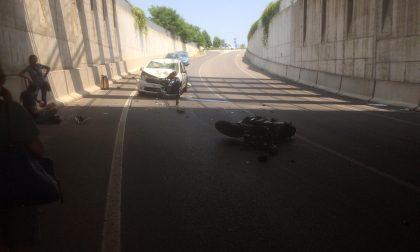 Incidente a Treviglio, grave un motociclista trasportato in elisoccorso FOTO