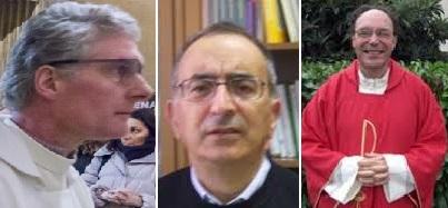Da sinistra: don Riccardo Castelli, don Franco Colino, don Tarcisio Ferri
