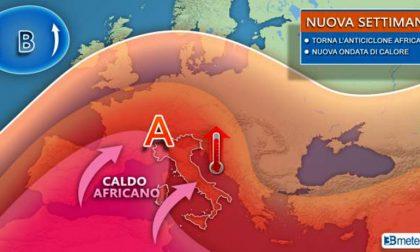 Rimonta l'anticiclone africano, picchi di temperature a 40°