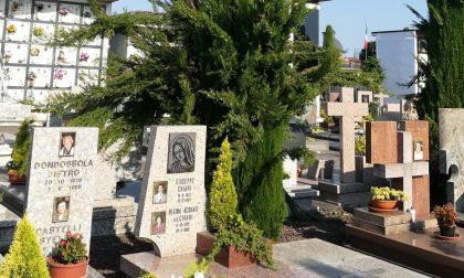 Filmata la ladra dei fiori al cimitero di Pontirolo