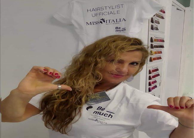 Mina Filipponi a Miss Italia per acconciare le candidate