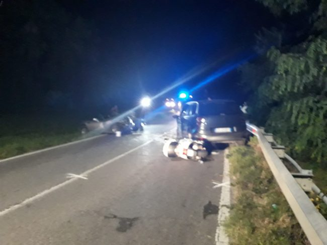 incidente frontale a rivolta