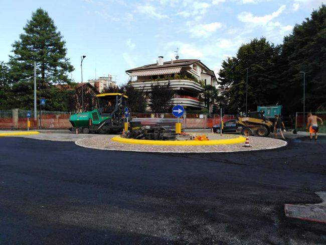 Rotatoria su viale Piave, lavori quasi conclusi FOTO