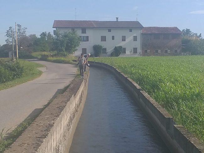 Il canale di Cividate in cui si temeva fosse caduto il bambino