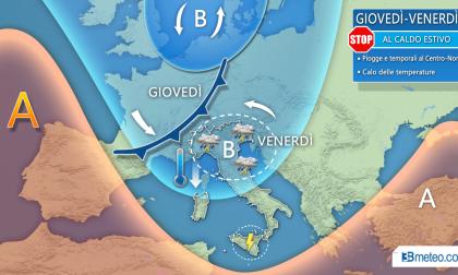 Canto del cigno dell'estate: in arrivo temporali e temperature sotto la media PREVISIONI METEO
