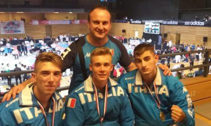 All'esordio in azzurro, Mirko Parisi vince l'oro nel kata a squadre FOTO