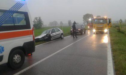 Scontro frontale tra Vailate e Agnadello, tre feriti FOTO