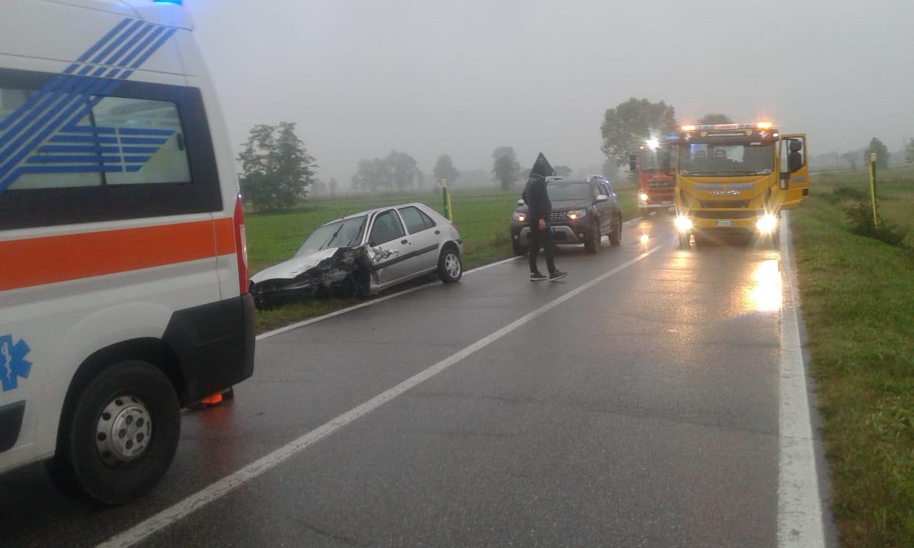 Scontro frontale tra Vailate e Agnadello, tre feriti FOTO - Giornale di Treviglio - Giornale di Treviglio