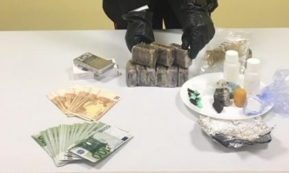 Narcotraffico, arrestato 50enne: in casa un chilo di hashish