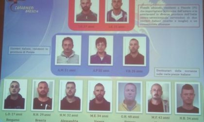 Colpo al narcotraffico albanese, sequestrati 10 chili di droga