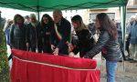 No alla violenza sulle donne, Fara inaugura la panchina rossa FOTO