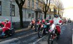 """I Babbi Natale motorizzati """"invadono"""" Treviglio FOTO"""
