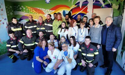 Treviglio, pompieri in ospedale per l'Epifania FOTO