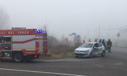 Incidente stradale a Caravaggio, due persone soccorse in via Panizzardo FOTO